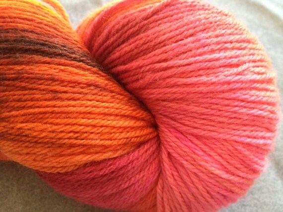 """Hand Dyed Sock Yarn - 3-ply fingering weight - """"Paradise"""""""