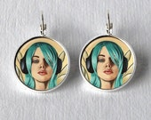 Fairy Earrings Circle Earrings Music Earrings Fairy Jewelry Dangle Fantasy Art