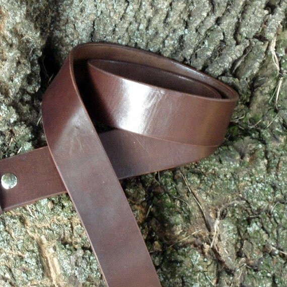 Brown or Black Everyday Leather Belt handmade to order