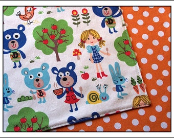 Goldilocks and the Three Bears Pair of Reversible Cloth Lunch Napkins