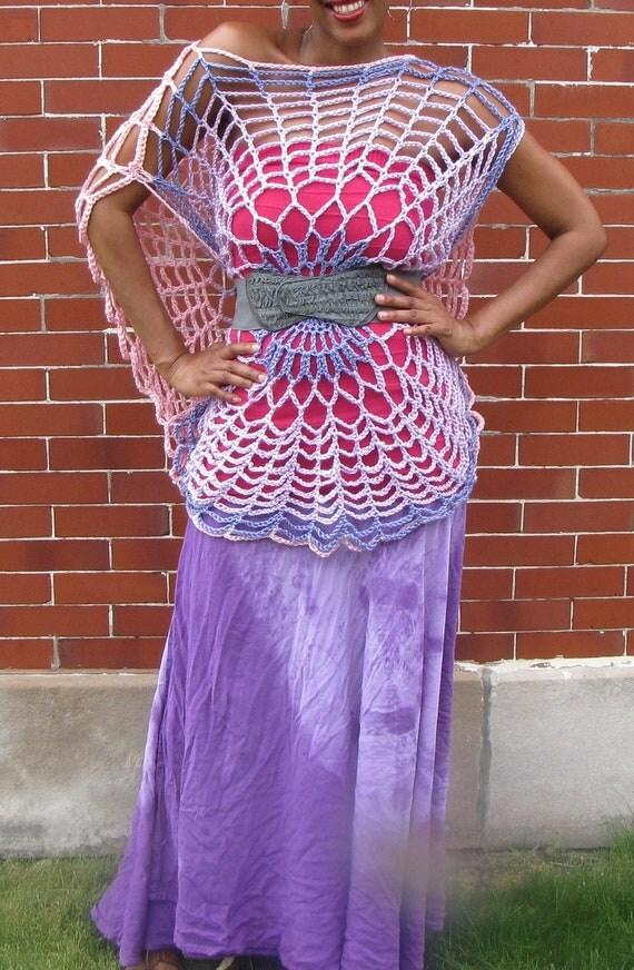 Sexy Trippy Tunic - Ready to Wear - Purple/ Pink