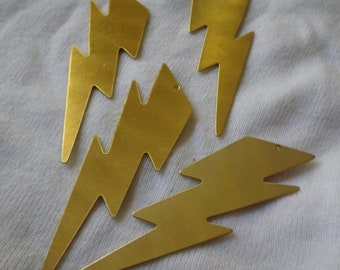 Huge Lightning Bolt Brass Charms 63x18mm 4