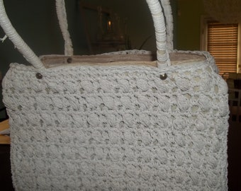INCREDIBLY Chic Italian Made Hand-Crochedted Vintage Purse