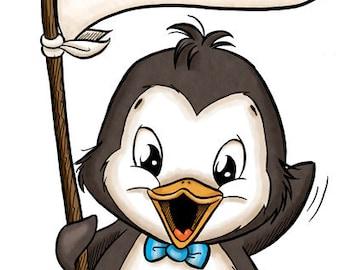 Messenger Penguin (DIGI STAMP)