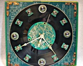 Recycled Circuit Board WALL CLOCK Techi Geekery Recycled WCLK2
