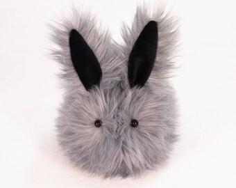 Stuffed Bunny Stuffed Animal Cute Plush Toy Bunny Kawaii Plushie Sterling the Silver Cuddly Snuggly Faux Fur Rabbit Toy Medium 5x8 Inches