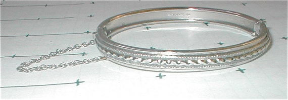 Whiting Davis Silver Bangle Bracelet