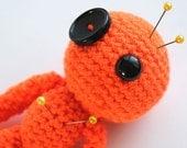 Creativity the Orange Amigurumi Voodoo Doll