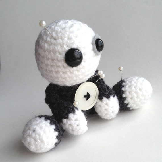 Crochet Amigurumi Voodoo Doll : SkeleTom the Amigurumi Voodoo Doll by cutedesigns on Etsy