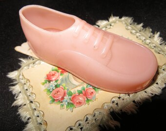 50's Pink Plastic Novelty Shoe