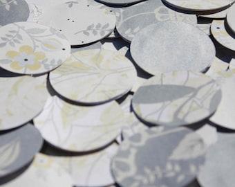 Paper garland -  silver circle garland