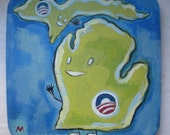 Michigan For Obama/ Swing States for Progress Painting