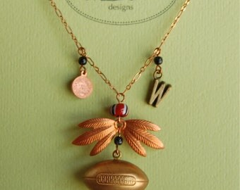 Football Necklace part of Westwood Warrior School Spirit Jewelry Collection