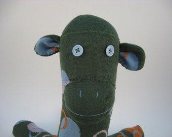 Squiggley Bubbles - green socktopus