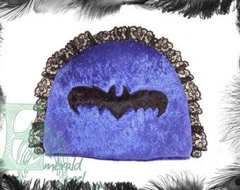 Velvet, Lace & Bat Gothic Tea Cozy, Cosy. Many colours.
