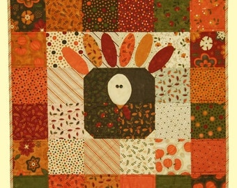 Sandy Gervais Charm Pack Presidential Pardon Quilt Pattern Beginners Kids Thanksgiving Pieces From My Heart Wall Quilt Tablemat