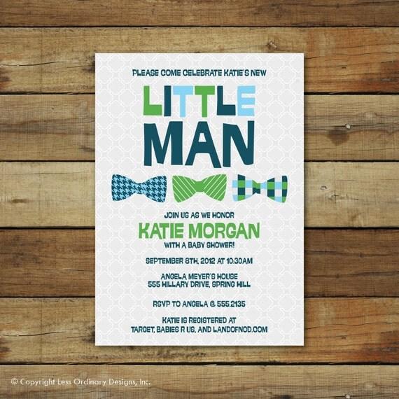 Little Man baby shower invitation, Baby boy Shower invite, baby boy, baby shower, little man, printable baby shower invitation