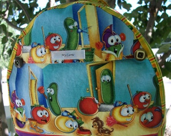 My Carrie Toddler Backpack made with Veggie Tales Fabric