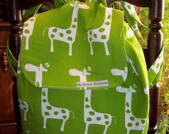 My Carrie Lime Green Giraffe Backpack