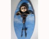 Little Angel ooak found object art doll sculpture mixed media handmade