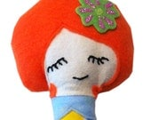 Lazy Daisy Cloth Doll - Orange Hair