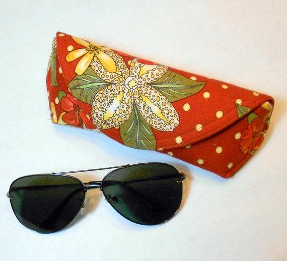 Eyeglass Case or Sunglass Case Large - Elegant Garden