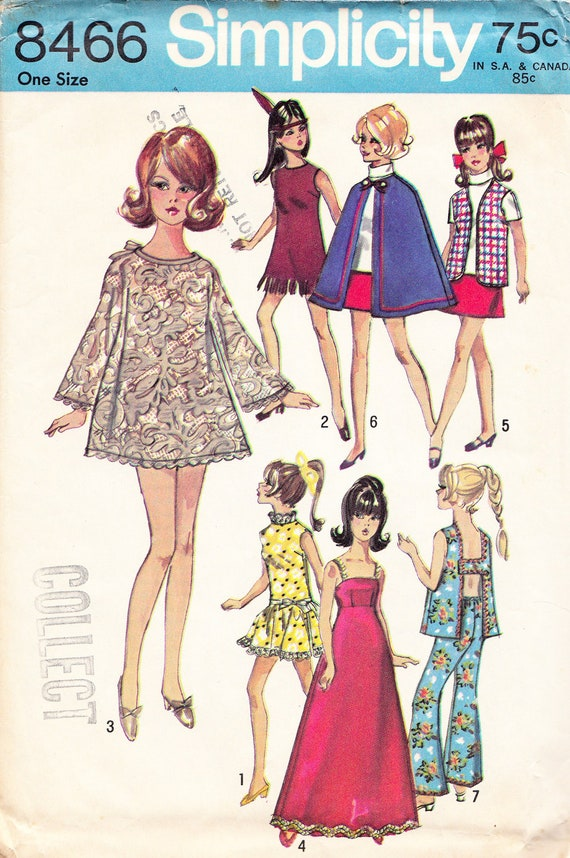 Barbie Doll Clothes Pattern Vintage Simplicity by BabylonSisters