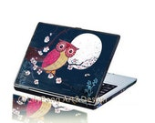 Moonlight Owl Bird Laptop Decal Skin