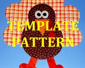 Applique PDF TEMPLATE Pattern Only Thanksgiving Bird CHUBBY Turkey....New...2 Sizes