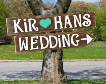 Country Wedding Signs Romantic Outdoor Weddings Hand Painted Reclaimed Wood. Rustic Weddings. Vintage Weddings. Road Signs. Eco Bride