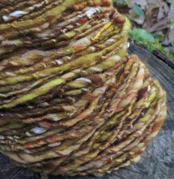 Just Like Honey - handspun wool novelty yarn