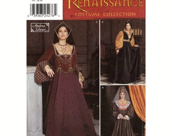 Renaissance wedding dress gown costume Simplicity 9929 sewing pattern