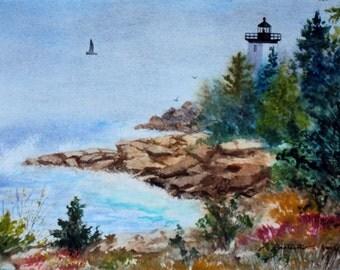 Maine Island Lighthouse