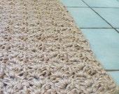 CUSTOM handmade natural jute mat small rug (made to order)