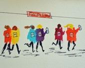 The Girlfriends Marathon Print- Featured in Women's Running Magazine Gift Guide
