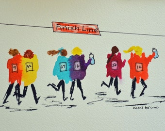 The Girlfriends Marathon Print- Featured in Women's Running Magazine Gift Guide