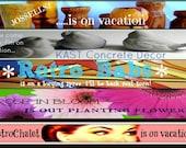 Pay it Forward Etsy Shop Vacation Banner PIF custom graphics