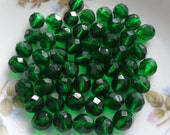 Celtic Green, 8mm Czech Glass Beads-Destash