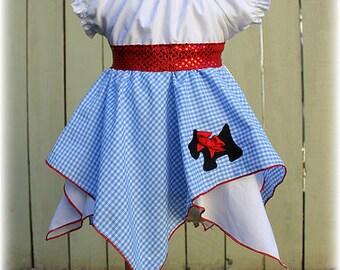Dorothy Wizard of Oz Costume, Dorothy Wizard Of Oz Dress, Blue White Gingham Dorothy Dress