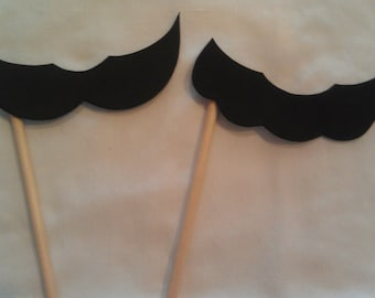 Mario and Luigi Inspired Mustache on a Stick (set of 20)