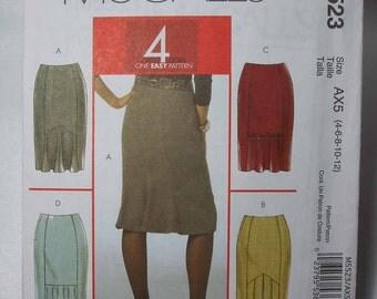 McCall's Uncut Skirt Pattern Size 4 - 12