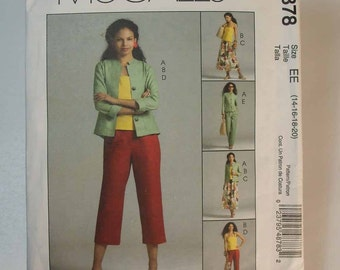 Uncut McCall's Women's Wardrobe Size 14-16-18-20