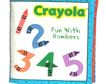 CLOTH BOOK for CHILDREN - Made From Crayola Fabric - Learn to Count!