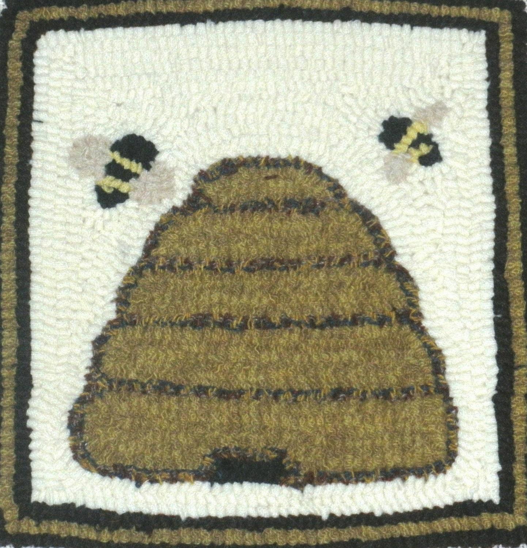 Bee Skep Rug Hooking Kit