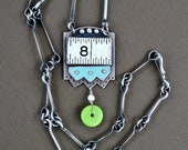 Vintage Ruler Lucky No. 8 One of a Kind Pendant