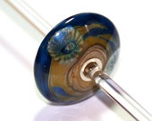 Bella Bead Jewelry- Silver Lined Lampwork Glass Disc Large Bead - bellabeadjewelry