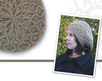 Kyla Slouchy Hat - PDF Knitting pattern / instrucions