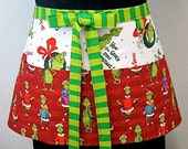 The Grinch Who Stole Christmas Zipper/Key Clasp Vendor Apron