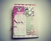 Ready to ship! I Mustache You Sweet Premade Mini Album/Journal Valentine's Day, Wedding, Love Story, Us