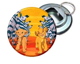 Lion King Young Simba and Nala Image Bottle Opener